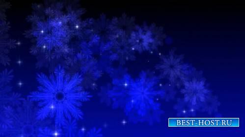 Футаж с снежинками и мерцающими огоньками