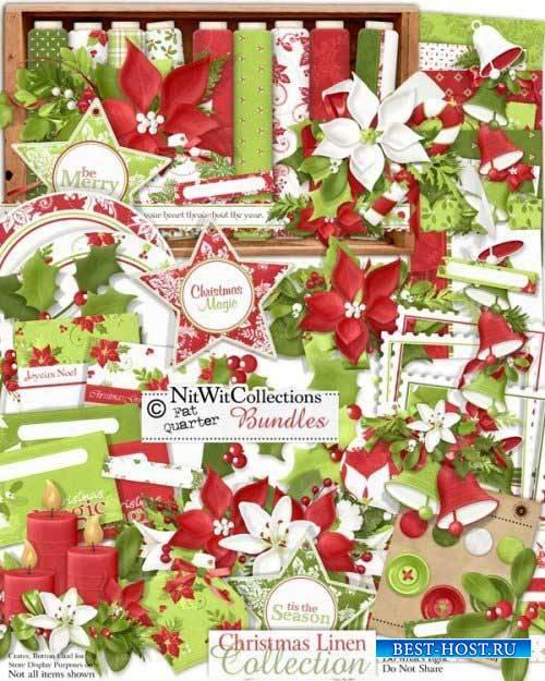 Новогодний скрап-комплект - Christmas Linen