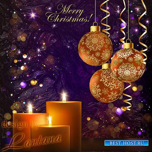 PSD исходник - Волшебный праздник новогодний 27