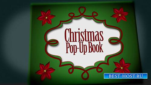 Christmas Pop Up Book - After Effects Template (FluxVfx)