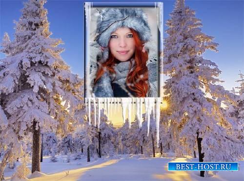 Рамка к фото - Зимний закат