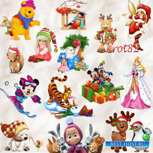 Сказочный клипарт PNG – Зимние и новогодние персонажи из сказок