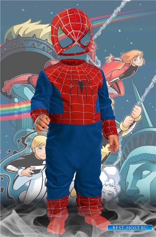 Детский шаблон для мальчиков – Человек паук