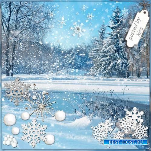 Клипарт зимний - Снежинки, снегопады и россыпи снега