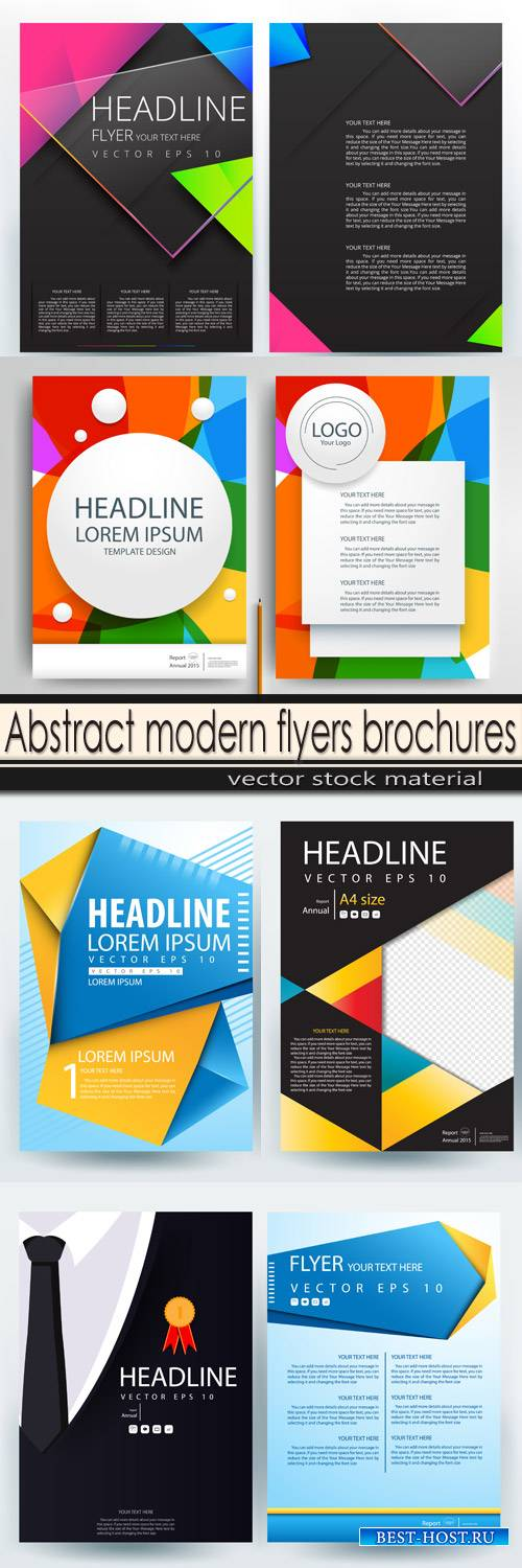 Abstract modern flyers brochures