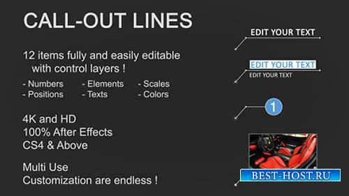 Line Call-Outs - Project for After Effects (Videohive)