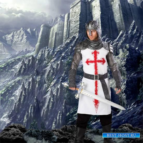 Шаблон  мужской -  Крестоносец