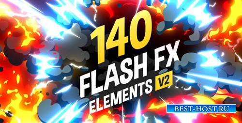 140 Flash FX Elements v.2 - Project for After Effects (Videohive)