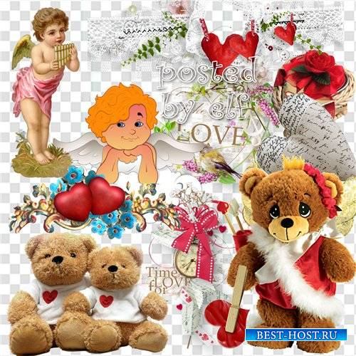 Валентинов день - романтический клипарт без фона