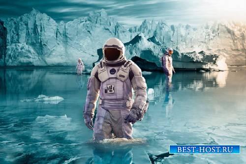 Шаблон для фотошопа - На чужой планете
