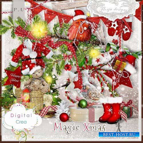 Новогодний скрап-комплект - Magic Xmas