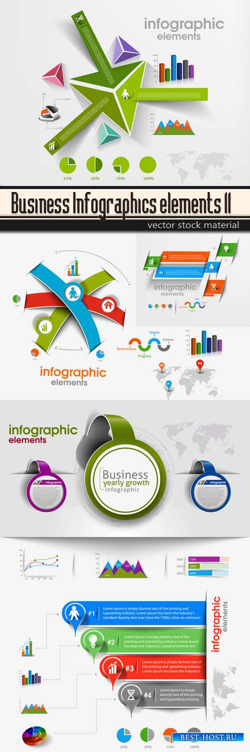 Business Infographics elements 11