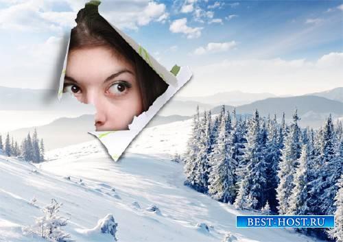 Рамка для фотографии - Окно на зимнюю природу
