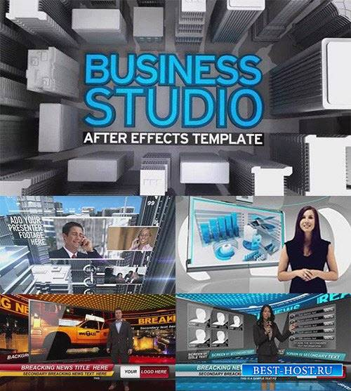 The Virtual Studio Bundle - After Effects Template (BlueFX)