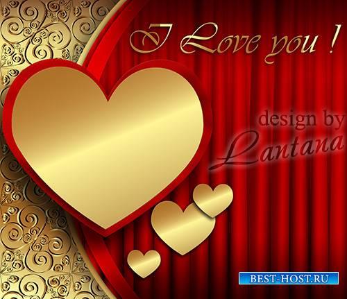 PSD исходник - Золотое сердце