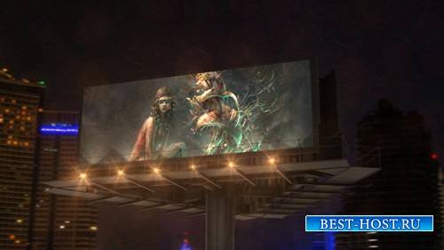 Billboard In Night City - Project for After Effects (Videohive)