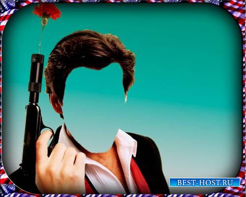 Шаблон для фотошопа - Агент 007