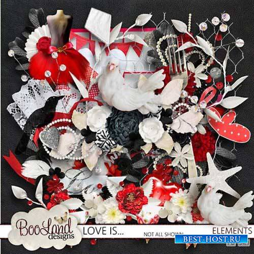 Романтический скрап-комплект - Любовь это