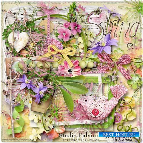 Весенний скрап-набор - Весенний поцелуй