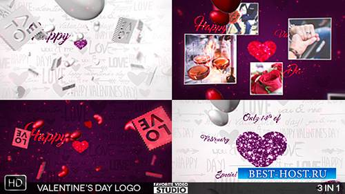 Valentine's Day Logo 3in1 - Project for After Effects (Videohive)