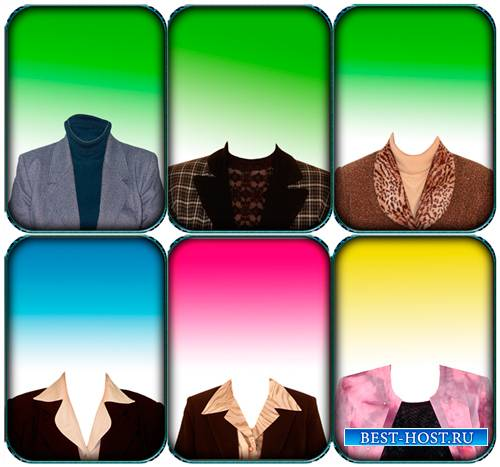 Psd шаблон - Женские, возростные костюмы 36 шт