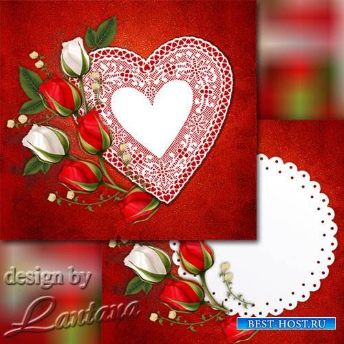 Psd исходник - Пусть украшают розы жизнь бутонами своими