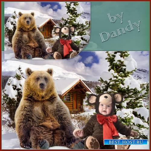 Шаблон для мальчика - Два медведя