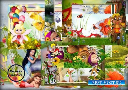 Детские рамки для фотошопа – Сказочные герои
