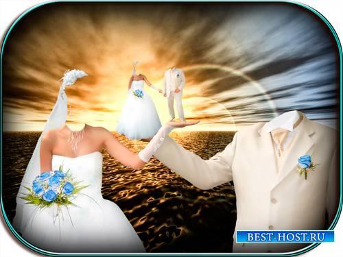 Свадебный psd шаблон - На руке друг друга