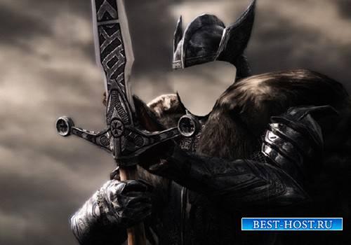 Воин с мечом фэнтези - Шаблон psd мужской