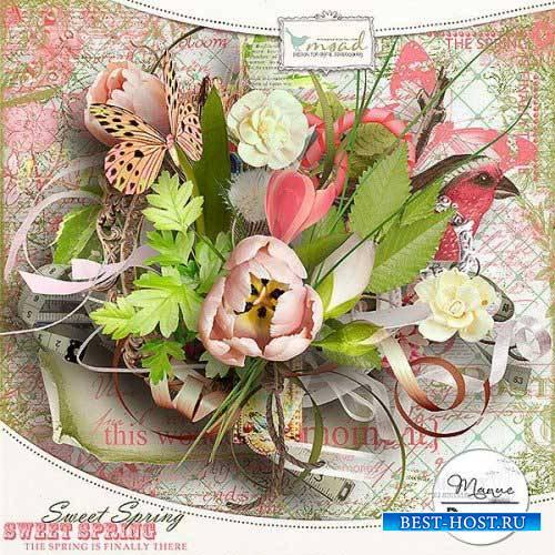 Весенний скрап-набор - Ласковая весна
