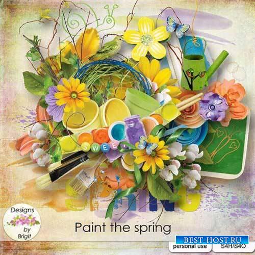Весенний скрап-набор - Краски весны
