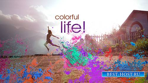 A Colorful Splash Of Life Opener - After Effects Template (pond5)