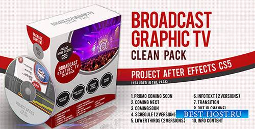 Broadcast Graphic Tv Clean Pack - Project for After Effects (Videohive)