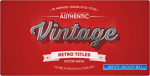 25 Animated Vintage Titles - Project for After Effects (Videohive)
