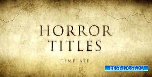 Horror Movie Titles - Project for After Effects (Videohive)