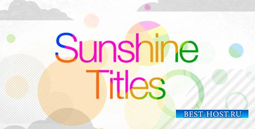 Sunshine Titles - Project for After Effects (Videohive)