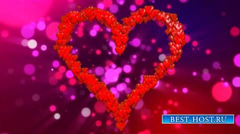 Футаж - Сердце с переливами