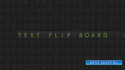 Text Flip Board - Project for After Effects (Videohive)
