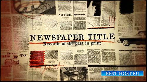 Newspaper Title - After Effect Template