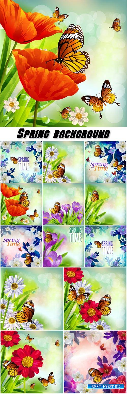 Spring background, beautiful flowers