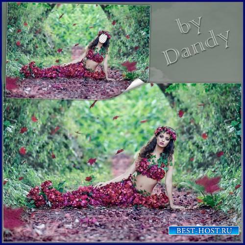 Шаблон для фотошопа  - Очаровательная девушка весна