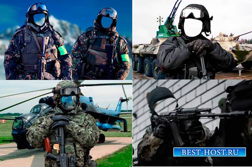 Шаблоны для фотошопа  - Солдаты