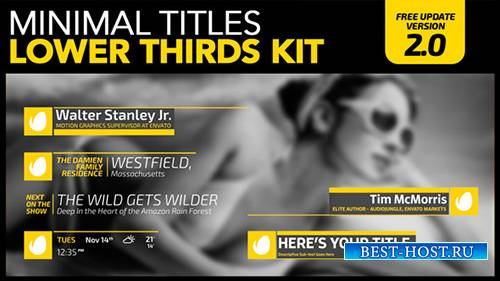 Minimal Titles Lower Thirds Kit - Project for After Effects (Videohive)