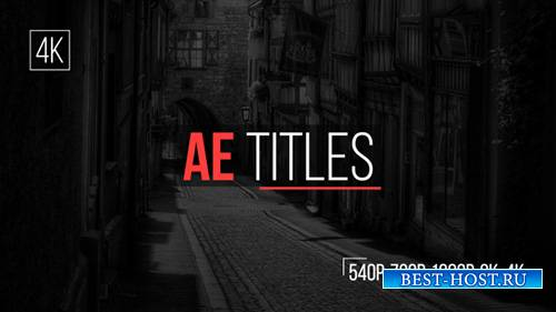 AE Titles - Project for After Effects (Videohive)