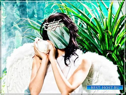 Шаблон - Ангел и голубь