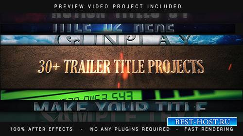 Trailer Titles Pack - Project for After Effects (Videohive)
