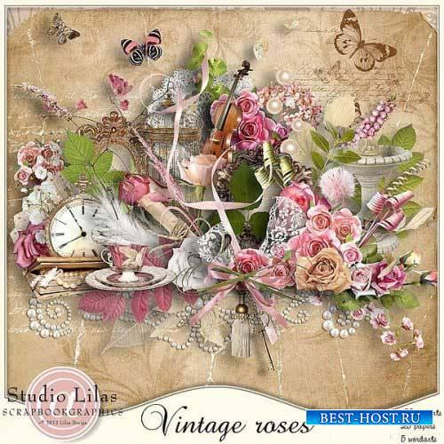 Романтический скрап-набор - Винтажные розы