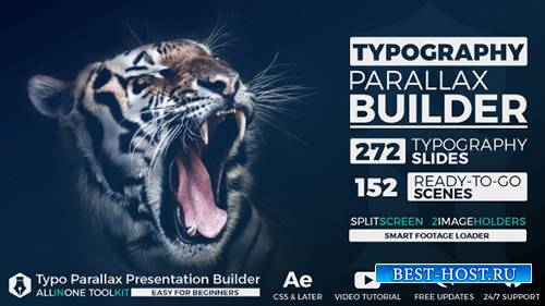 Big Typo Parallax Presentation Builder - Project for After Effects (Videohi ...