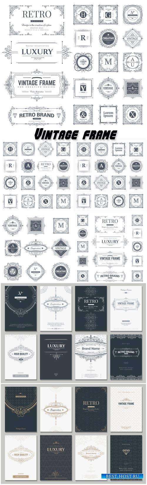 Vintage  vector monograms